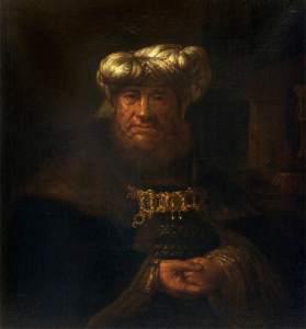 Rembrandt van Rijn, 1606-1669; King Uzziah Stricken with Leprosy (?)