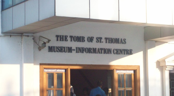 The entrance to the tomb of St. Thomas in Chennai, India. Taken by Rev. Todd Lattig