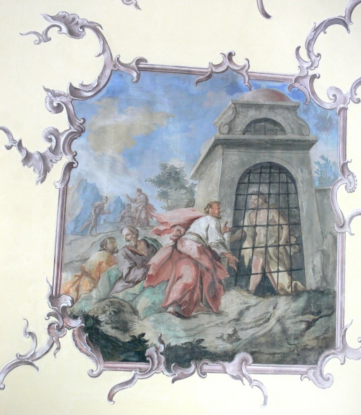 Oberzell_Alte_Kirche_Decke_Johannes_im_Kerker